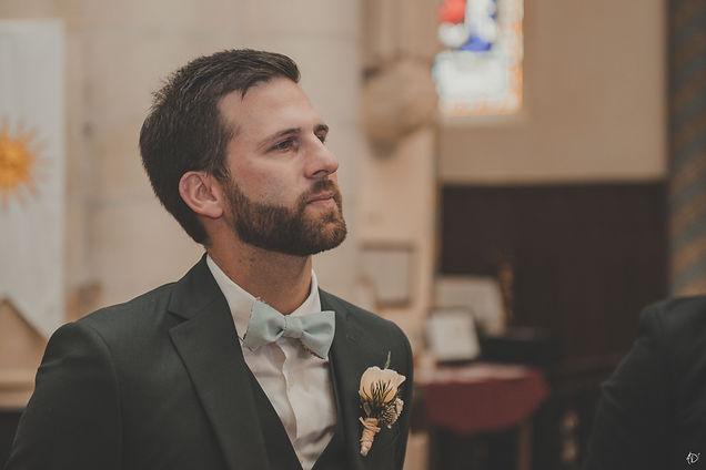 Un marié ému
