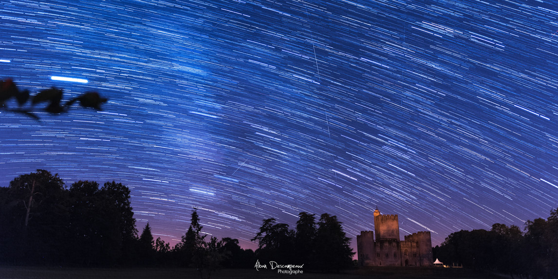 Filée d'étoiles près de Roquetaillade