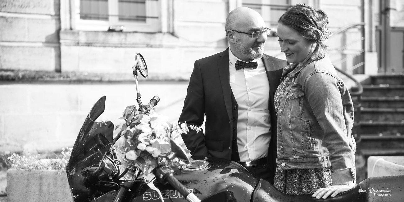Mariés à moto