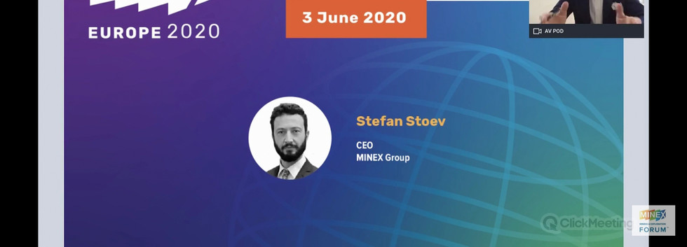 MINEX CEO, Dr. Stefan Stoev on Business Prospects after COVID-19