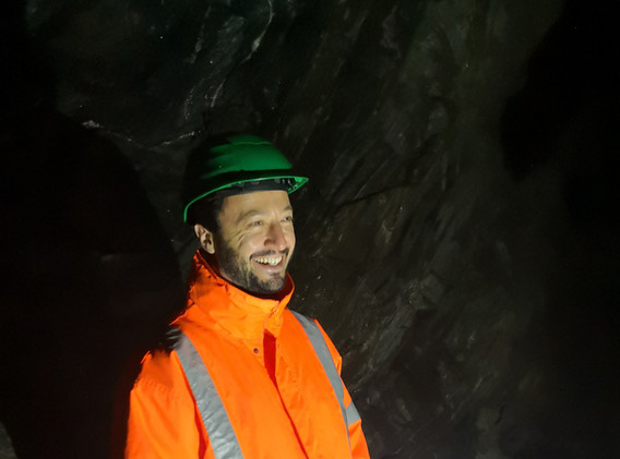 MINEX CEO Dr. Stoev at the Lithium Mine