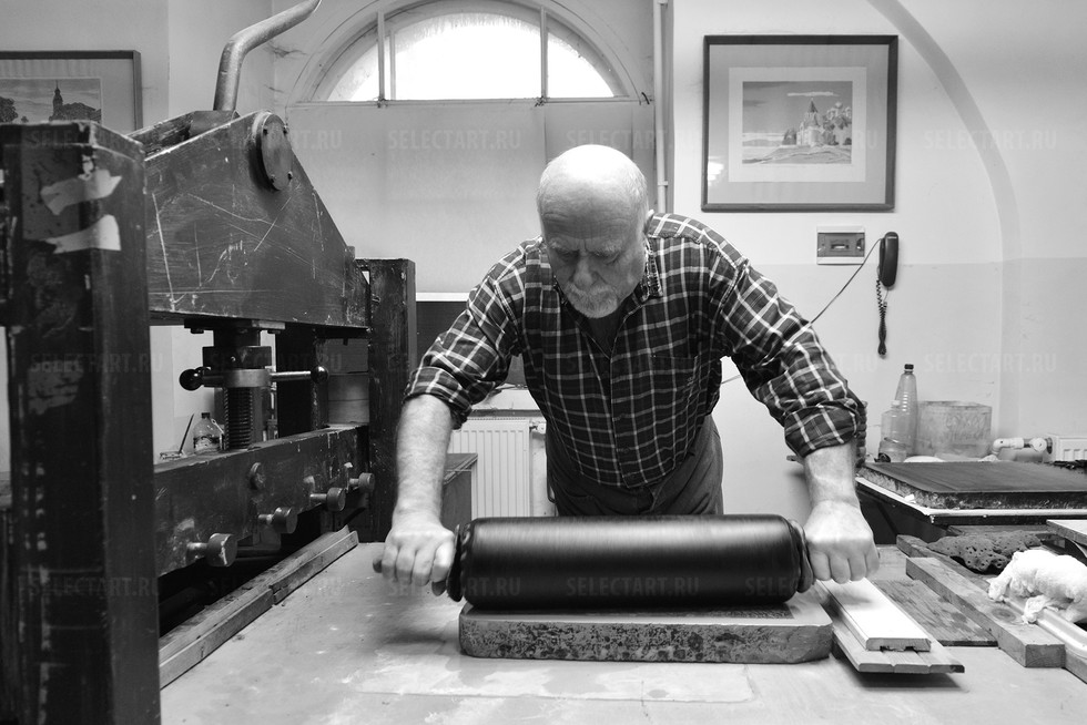 Печать третьей литографии