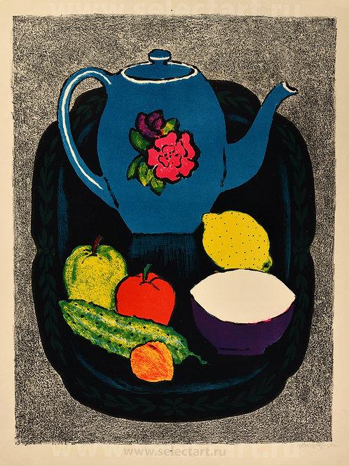 "Скуляри М.Н. ""Натюрморт с синим чайником"""