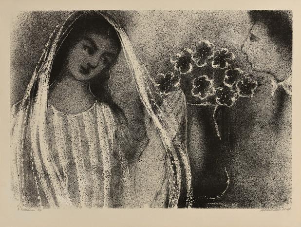 Каплан Анатолий Львович 1967 08 -Невеста- 620х470 литография selectart.ru.jpg