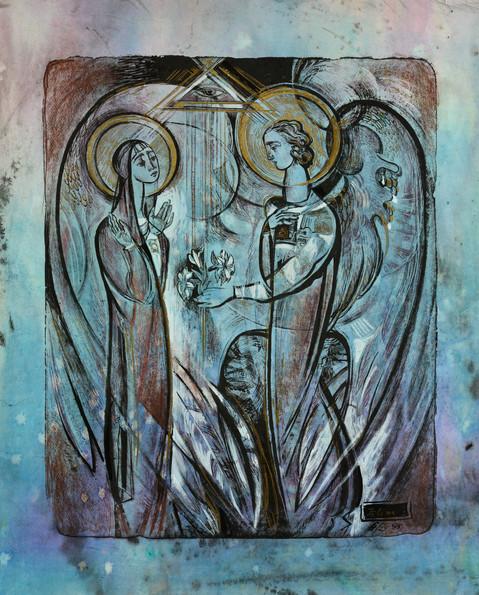 Илина И. 1998 -Любовь небесная- 600х510 покрашенная бумага 6-5