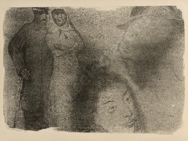 Каплан Анатолий Львович 1967 19 -Рохеле с мужем- 620х470 литография selectart.ru.jpg