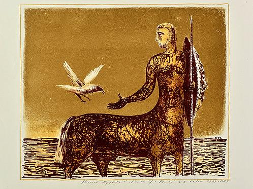 Литография КУЗНЕЦОВ Алексей «Кентавр и птица» - великолепный подарок и украшение интерьера