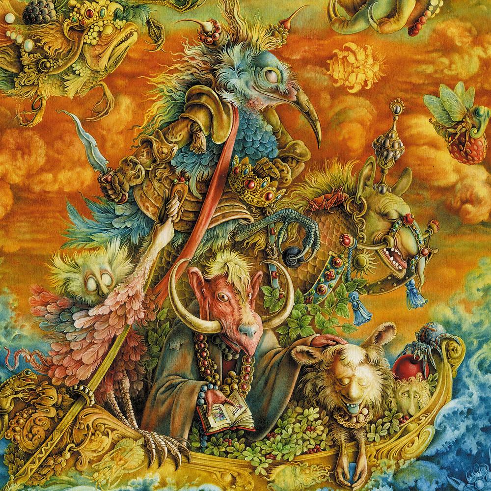 Конкиста (фрагмент). 1997 г. Картон; акварель. 23х30 см. Частная коллекция