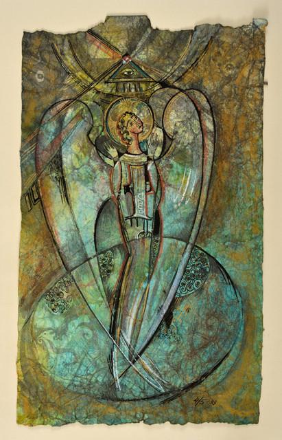 Илина И. 1998-Ангел- 450х280 Ручная бумага 4-5