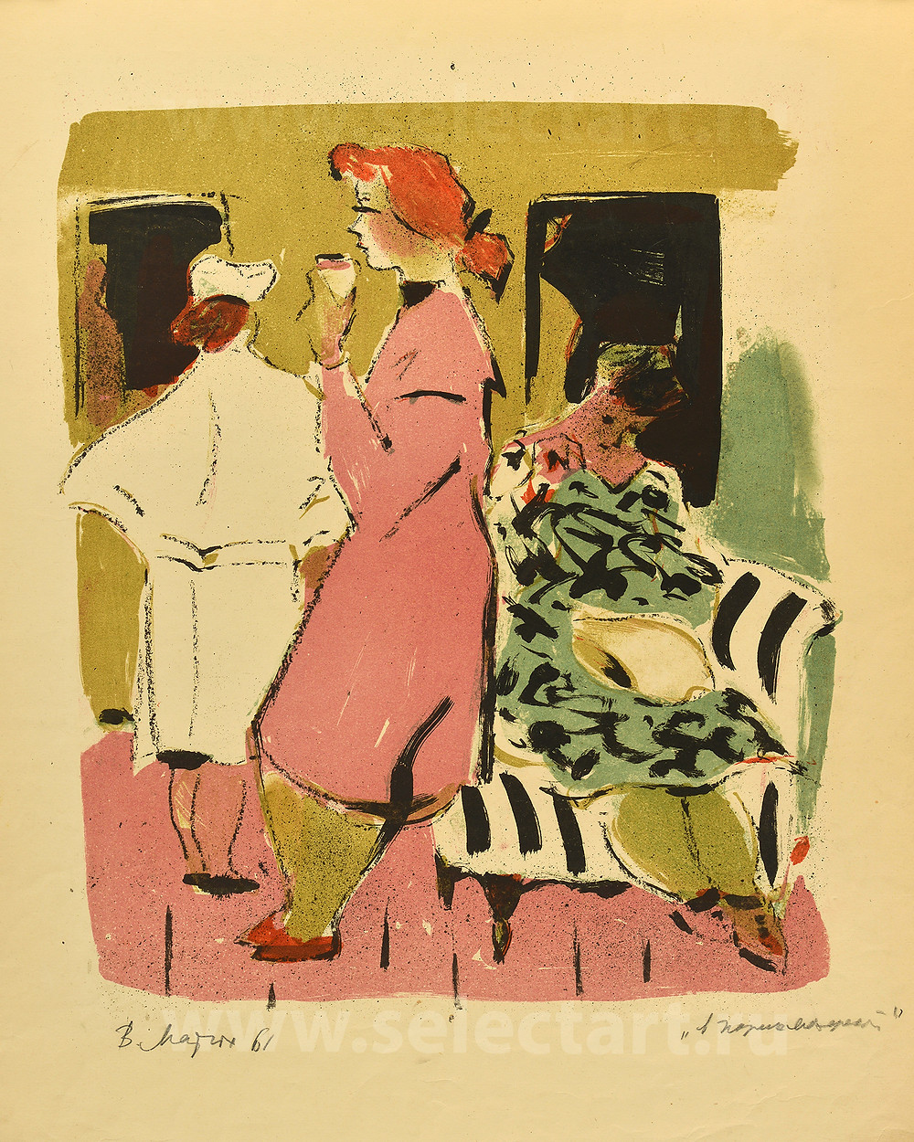 МАТЮХ Вера Фёдоровна «В ожидании», 1961 год