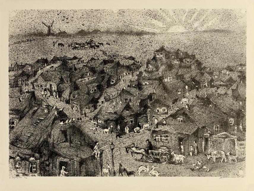 Каплан Анатолий Львович 1967 02 -Городок- 620х470 литография selectart.ru.jpg