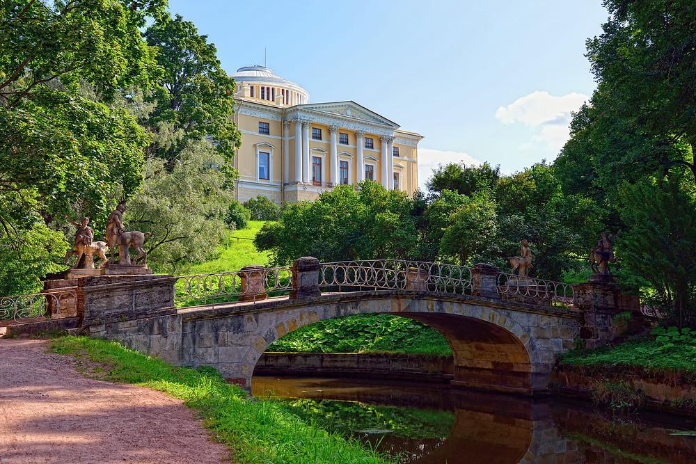 Государственный музей-заповедник Павловск, Павловский дворец, мост Кентавров