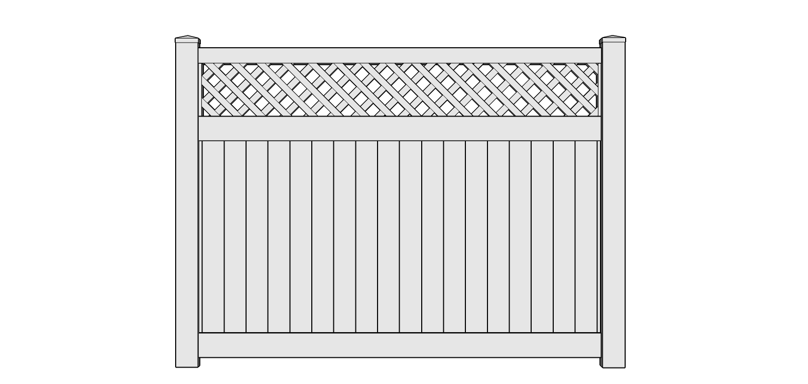Jefferson Vinyl Semi Privacy Fence