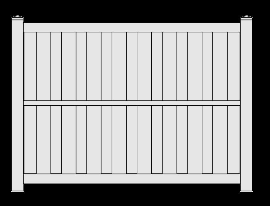 Shadow Box Semi-Privacy Vinyl Fence