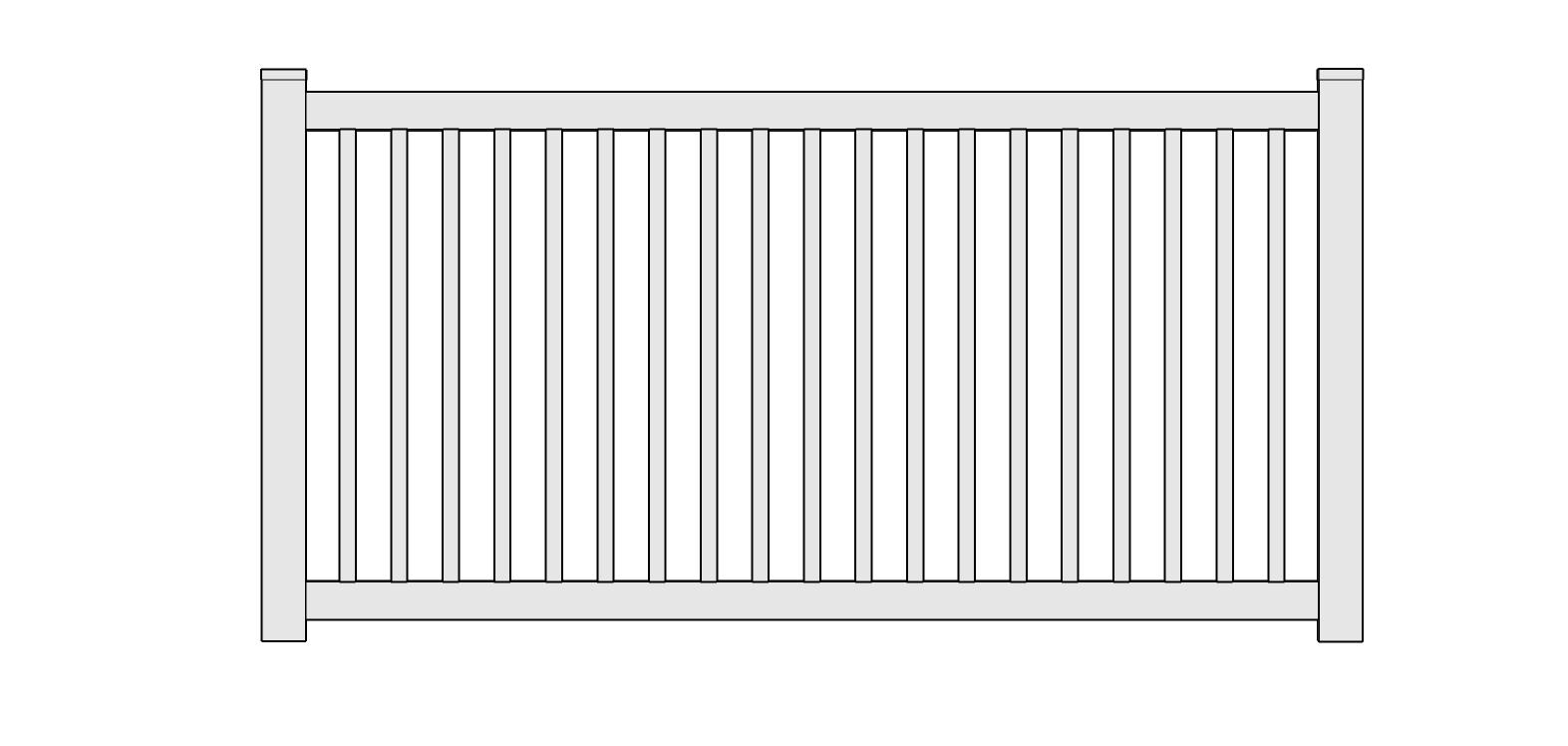 Victorian Vinyl Picket Fence