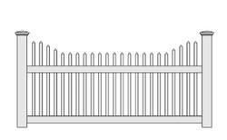 Yorktown Vinyl Picket Fence