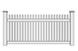 Lexington Vinyl Picket Fence