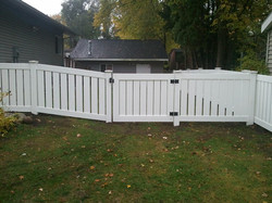 Jackson Semi-Privacy Vinyl Fence