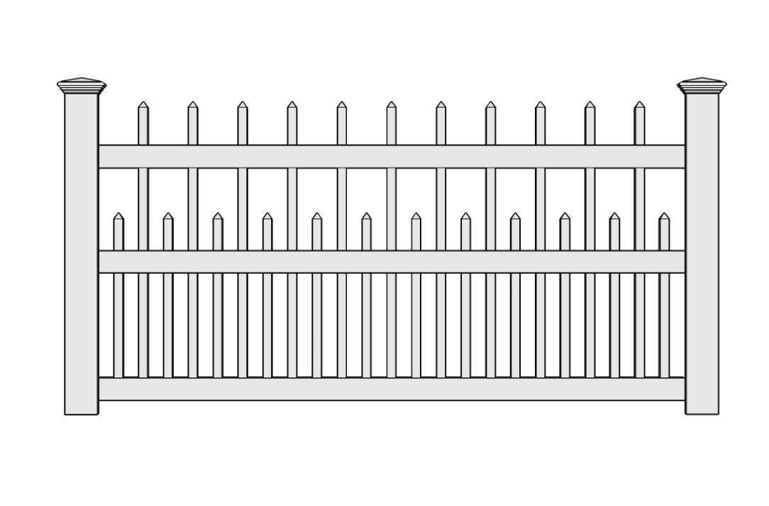 Jamestown Vinyl Picket Fence