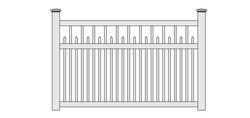 Concord Vinyl Picket Fence