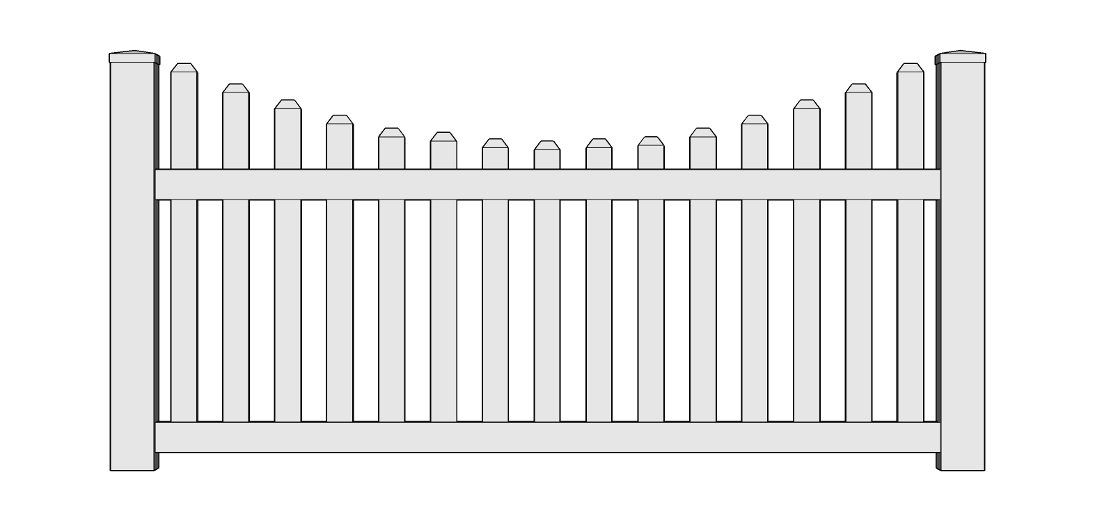 Charleston Vinyl Picket Fence