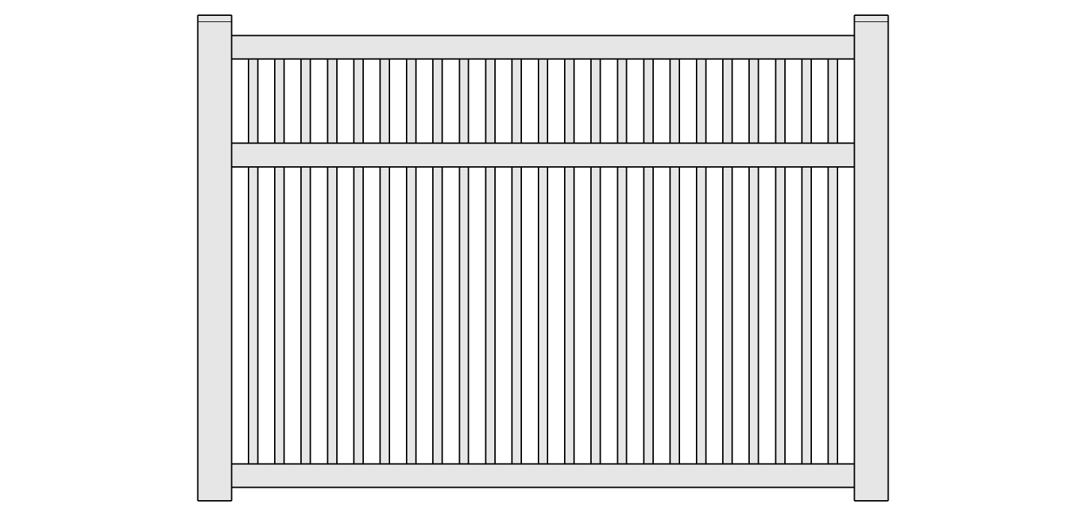 Fairfield Semi-Privacy Vinyl Fencing