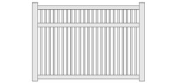 Fairfield Semi-Privacy Vinyl Fencing