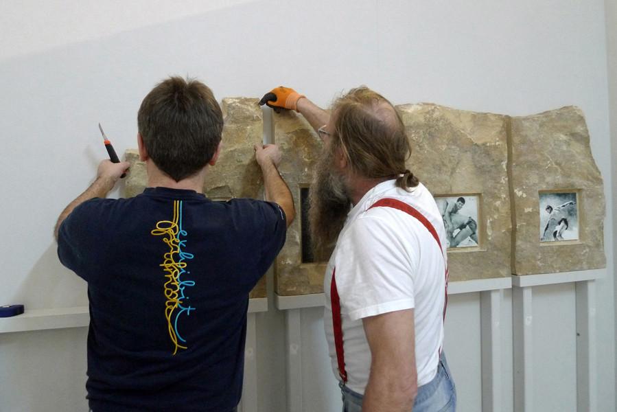 Peter und Horst beim Positionierenen