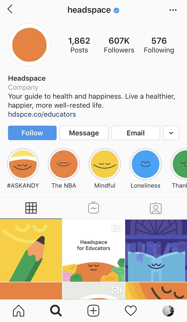 headspace instagram growth tips