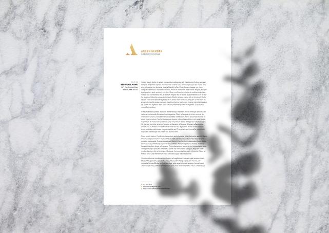 Aileen Marble Resume Design