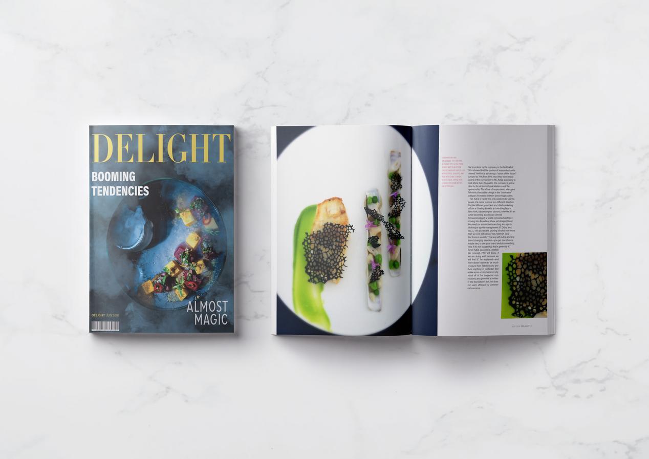 Delight Magazine Alternative Cover and Spread