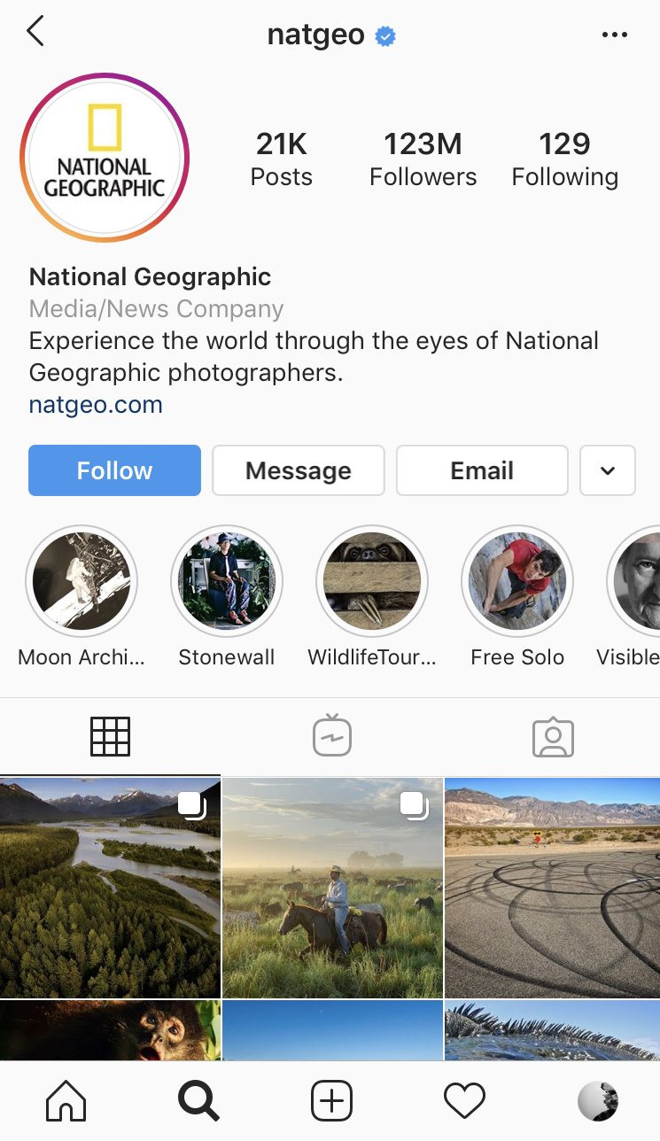 National Geographic Instagram hacks and account