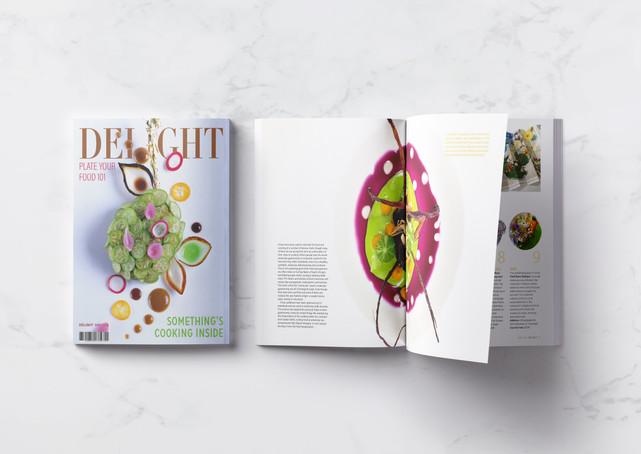 Delight Magazine Cover and Spread