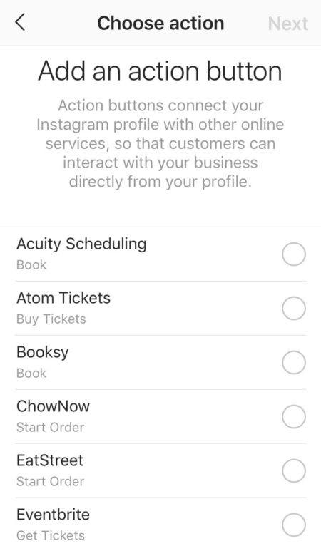 instagram growth strategy, learn how to add action buttons on profile