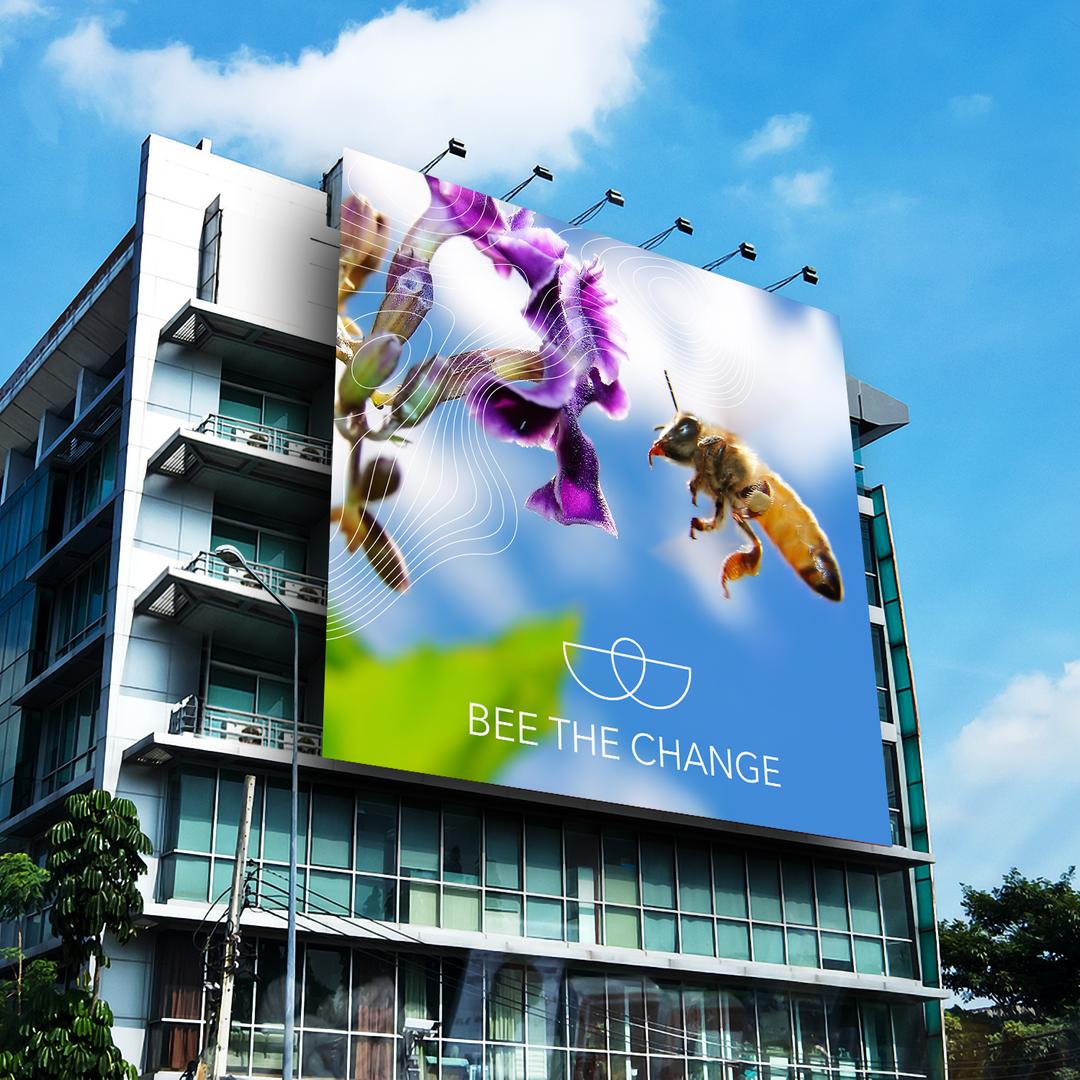 Bee The Change Building Billboard