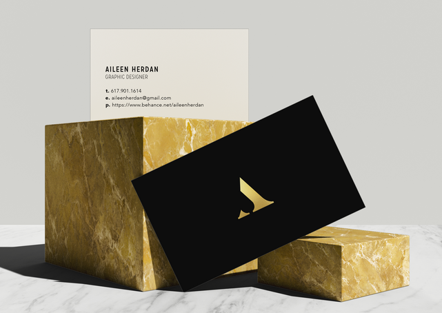 Aileen Marble Business Card Design