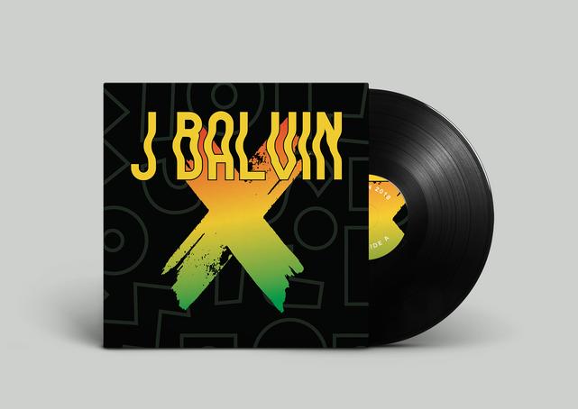 J Balvin X Vinyl Record front