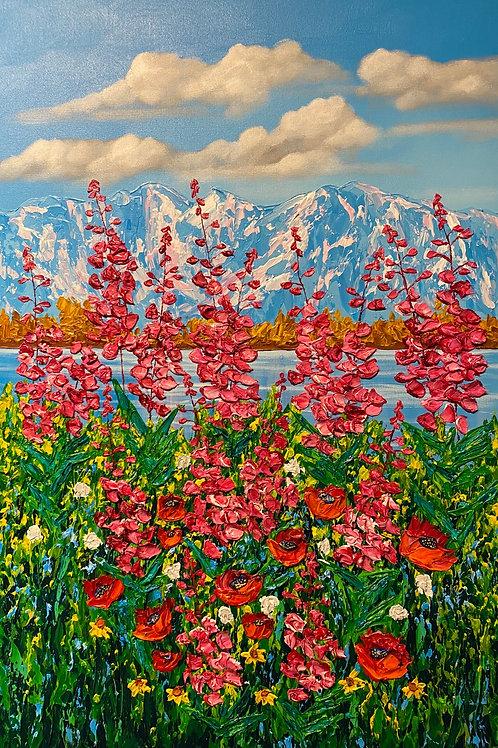 Wildflowers Overlooking Wolverine Peak