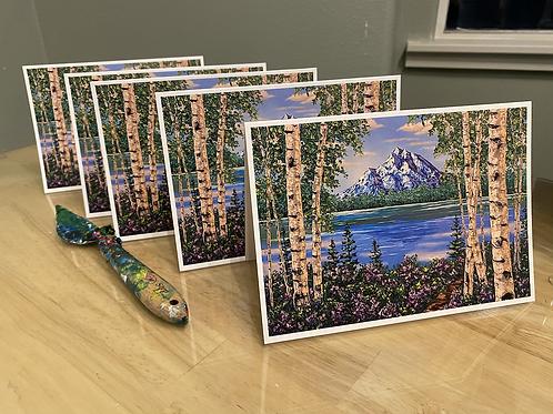 "Set of 5 ""Denali's Charm"" greeting cards - 5"" x 7"""