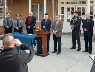 District Attorney Marco Serna takes questions from members of the media regarding the murder of Jeremiah Valencia. - January 30, 2018
