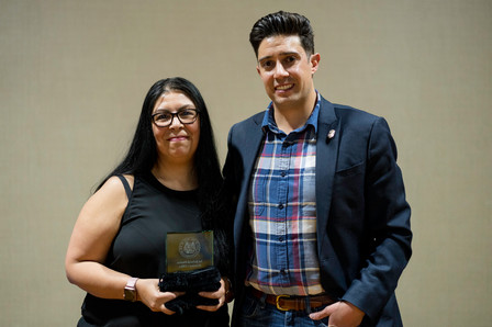 Sonia Atchison is awarded the 2018 Outstanding Employee of the Year during the NMDAA Spring Conference. - April 17, 2018