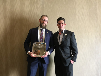 Blake Nichols receives a State Bar of New Mexico annual award for prosecutorial excellence in Northwest New Mexico.