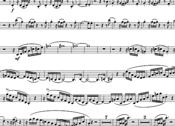 BLACK ZAP (with Soundtrack) for Saxophone Quartet
