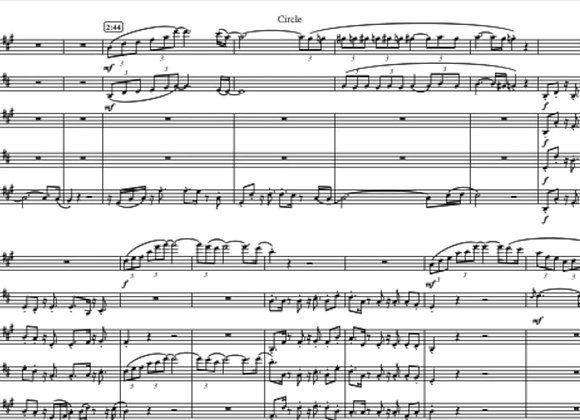 CIRCLE (with Soundtrack) for Saxophone Quartet or Quintet