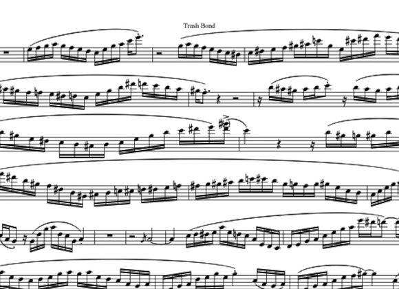 TRASH BOND (with Soundtrack) for Eb Saxophone