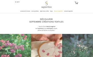 Le site de septembre créations textiles !