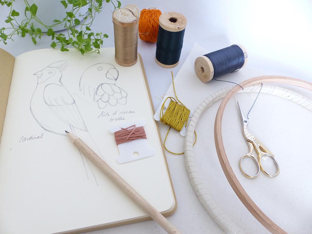 Chaque projet passe par un dessin, j'aime dessiné et le dessin me permet de laisser une trace de mes créations.