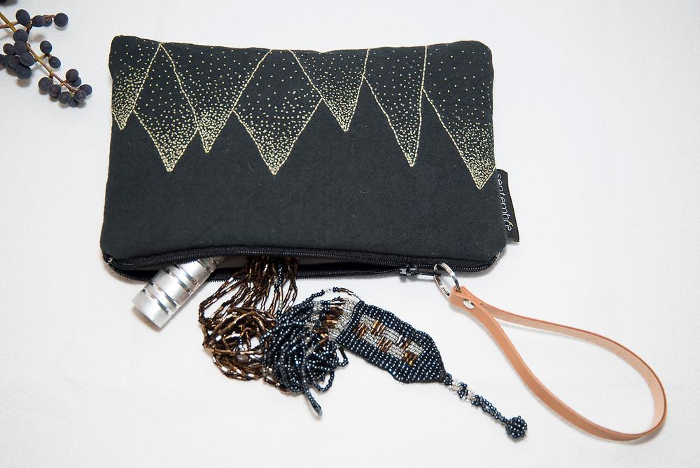pochette de ville brodée main septembre créations textiles