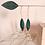 Thumbnail: Boucles d'oreilles IRIS bijou brodé main