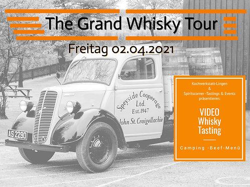 Whisky Tasting für 2 Personen + Menü + Video Stick